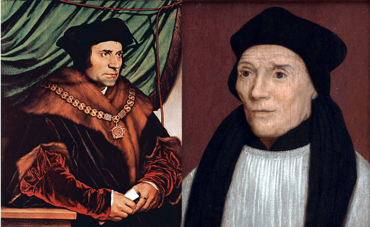 Św. Thomas More (L) i św. Jan Fisher (P)